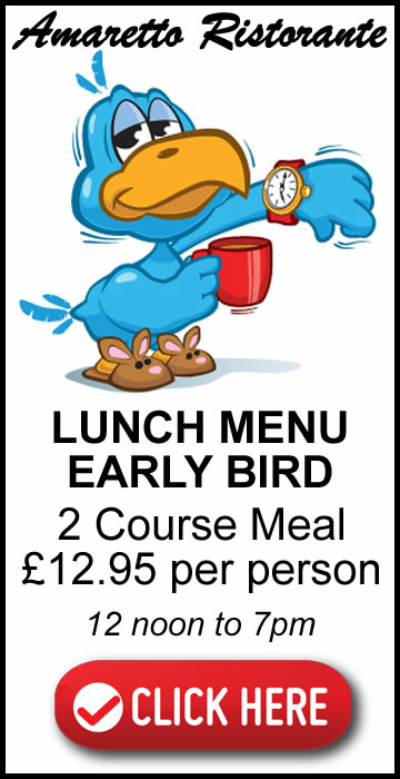 Click Here To view Early Bird Menu