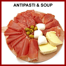 antipasta and soup